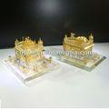 decoração de casamento de ouro lembrança de vidro barcos modelos de igrejas jy11