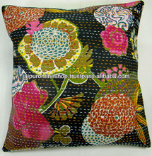 Images for flower print kantha cushion cover