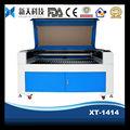 Couro máquina a laser para gravação e corte de materiais do metalóide com CE