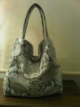 genuine python leather handbag