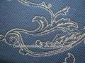 Gestrickt matratzengewebe- goldenen garn- schwarz stoff