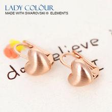 Y0065 Little Heart Shape Fashion Earring Zinc Alloy 18K Rose Gold Plated Alloy Jewelry Wholesale