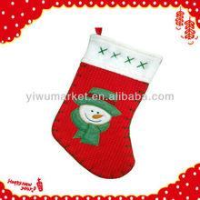 Yiwu new design fashion christmas decoration custom christmas stocking wholesale