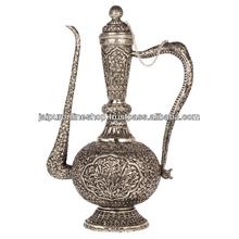 White Metal Surahi , Antique Surahi Handicraft Gift