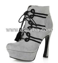 suede ankle boots platform lace up
