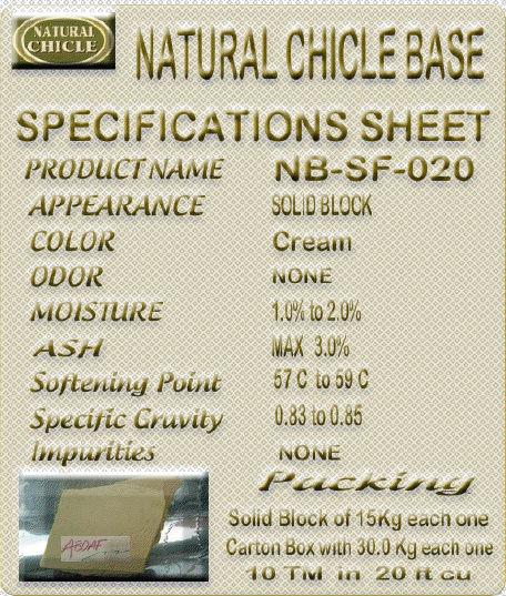 Natural Chicle Gum Base