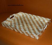 capis shell trey art with zebra design