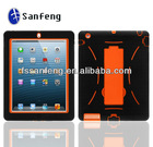 Stylish silicon and PC tablet case for ipad 4 3 2 with Stand