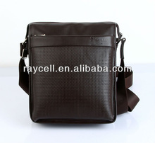 Genuine cowhide leather shoulder bag for men sales in factory price