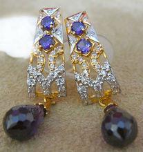Blue Sapphire 22kt gold Earring