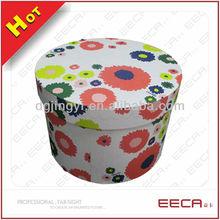 handmade round box polka dots/round box hat