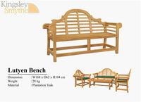 Teak marlboro / lutyens bench