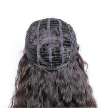 wholesale good quality long wavy AAAAA Brazilian virgin human hair black men front lace wig
