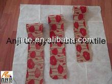 Jute printing ribbon 5'' wide 10 yards long nature or printed