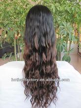 Beauty virgin brazilian hair full lace wig,ombre hair wigs,natural looking brazilian human hair wig