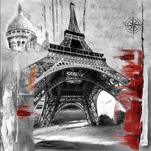 Fuzhou supplier Famous landscape paintings art in Eiffel Tower