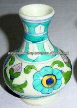 Designer Blue Pottery Pots , Handmade Designer Ceramic Vase