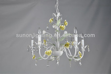 5 lights antique white iron classic luxury chandelier lighting in all kinds of series