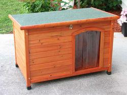 wooden dog kennel with adjustable plastic feet/ dog kennel/pet house