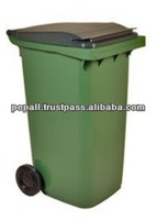 High Quality Green Color Standing Plastic Garbage Bins