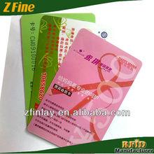pvc card laminating plastic business card silver foil printing card