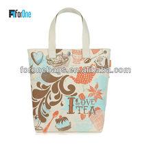 Trendy handle bag/canvas bag/burlap shopping bag