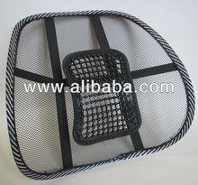 Viscose mesh lumbar support summer cool car seat lumbar support dual-use massage