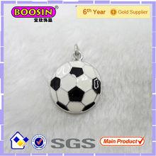 Enamel Soccer Charm Pendant #13179