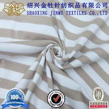 93 cotton 7 spandex yarn dyed stripe single jersey knit fabric garment