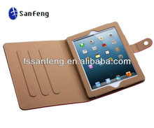 New design leather cover for ipad, for apple ipad 4 leather cover