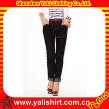 Lovely imprint long jean skirts