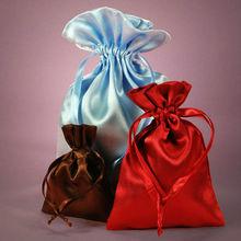 satin gift bag with drawstring