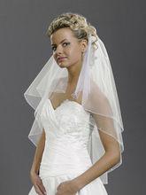 ivory 2T Rhinestones beads Elbow Corded Edge Bride Wedding Veil comb