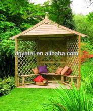 Artficial garden set /outdoor sale wood garden pavilion