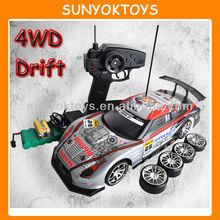 Drifting! 1:14 GT-R 4WD Drift Rc Car; Rc Cars Toys (30km/h)