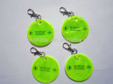 special non-phthalates and lead custom promotion 3D soft pvc custom reflective keychain