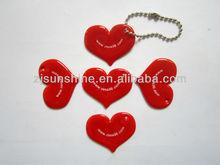 reflex keychain heart shape