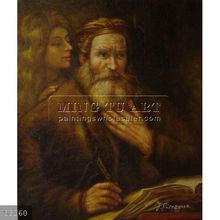 Handmade Christian Art Famous Jesus Christ Oil Painting,Evangelist Matthew And The Angel by Rembrandt van Rijn