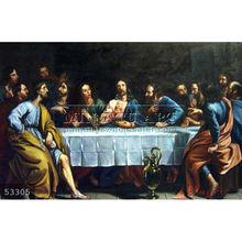 Handmade Christian Art Famous Jesus Christ Oil Painting, The Last Supper by Phillipe De Champaigne