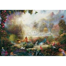 Handmade Famous Religious Christian Oil Painting,garden of eden series