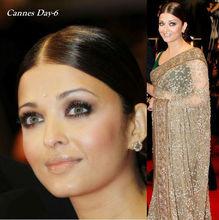 Bollywood Replica Beige Brown Designer Saree
