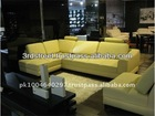 Solid Wood Frame Modern Leather Corner Leisure Sofa