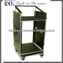 RK aluminum rack case,10U slant mixer rack/16u vertical rack system with caster board and removable covers
