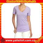 Mesh Fabric imprint women s t-shirt with beaded