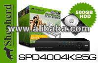 Shepherd - SPD4004K25G - 2 Cam Do-it-yourself DVR Kit with 500GB HD