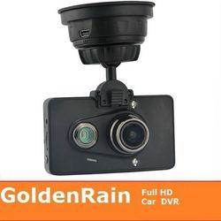 Ambarella Full HD 1080p vehicle car camera dvr video recorder with 3.0inch high resolution LCD H.264 12MP G-Sensor GPS