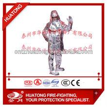 Aluminized proximity suit/heat resistant suit/fire resistant suit with aluminum foil
