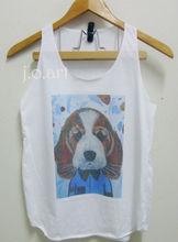 Face beagle dog art tank tops sleeveless vest tops, singlet top for women