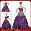 g212 Purple Taffeta Dress Matching Jacket Big Girl Sexy Evening Dresses