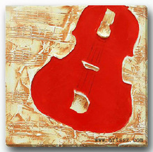 modern home decor abstract violin art oil painting